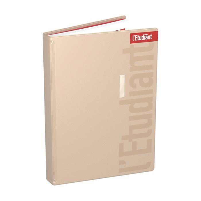 ETUDIANT Agenda 400118752 - 15 x 21 cm - 1 jour par page - Couverture PVC Ouatinée - 352 P - Couleur Or