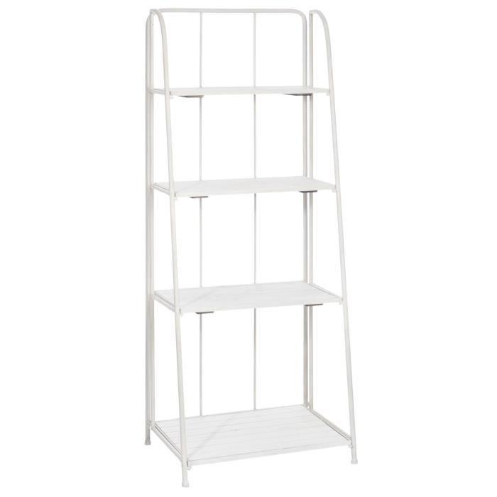 57x42,5x151 cm - Etagère 4 étages - Blanc.MEUBLE ETAGERE