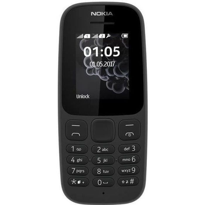 NOKIA 105 Téléphone portable Noir DS