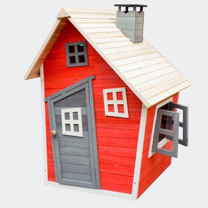 cabane maison jouet de jardin 120 cm pour enfants achat. Black Bedroom Furniture Sets. Home Design Ideas