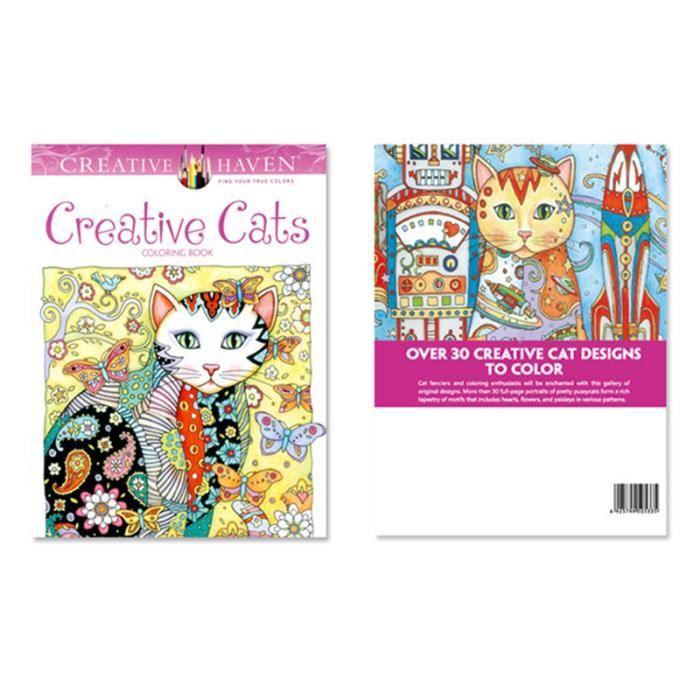 Coloriage Chat Cadeau.Lot De 10 Livres De Coloriage Chat Cahier De Barbouillage Decompression Coloration Jouet Cadeau Pour Enfant