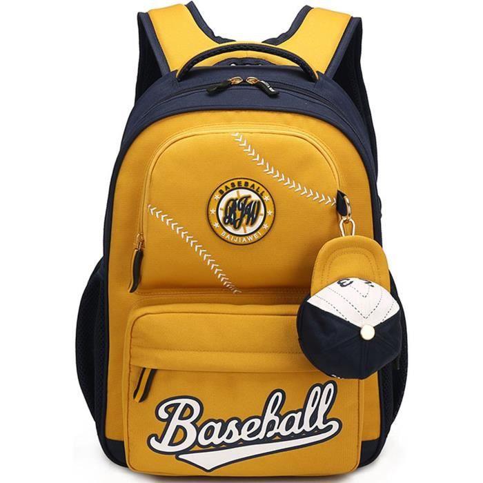 garçons sac à dos, enfants enfants sacs à dos de baseball pour écolier grade 3-5 AAU3I