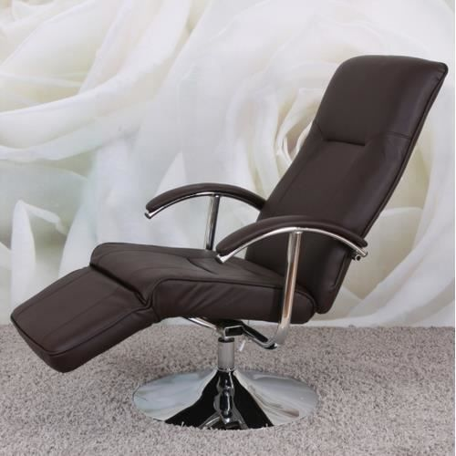 Fauteuil relaxation APIA II similicuir marron Achat Vente