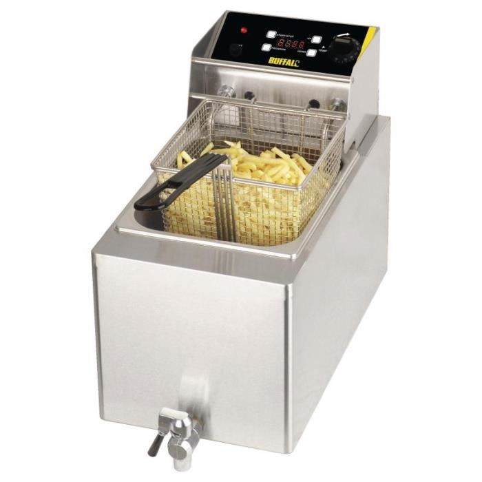 Friteuse 8 Litres simple Buffalo 6kW - Achat / Vente friteuse ...