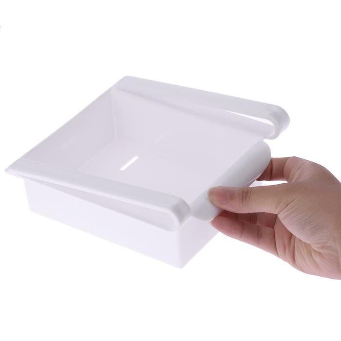 blanc organisateur de rangement pour r frig rateur cong lateur cuisine multi usage coulissant. Black Bedroom Furniture Sets. Home Design Ideas
