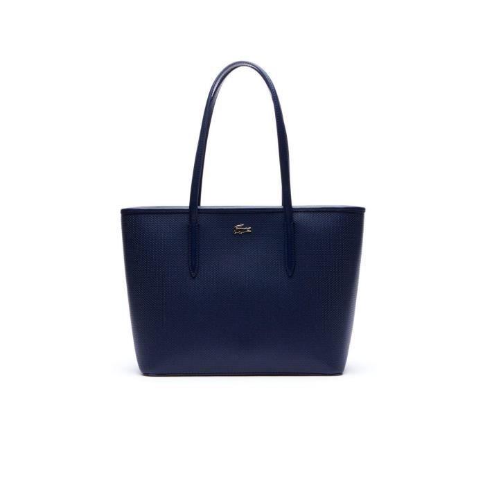 447fd4ae6366d Lacoste - Sac à main femme en cuir | CHANTACO NF2116CE - Couleur:Bleu  Taille:TU