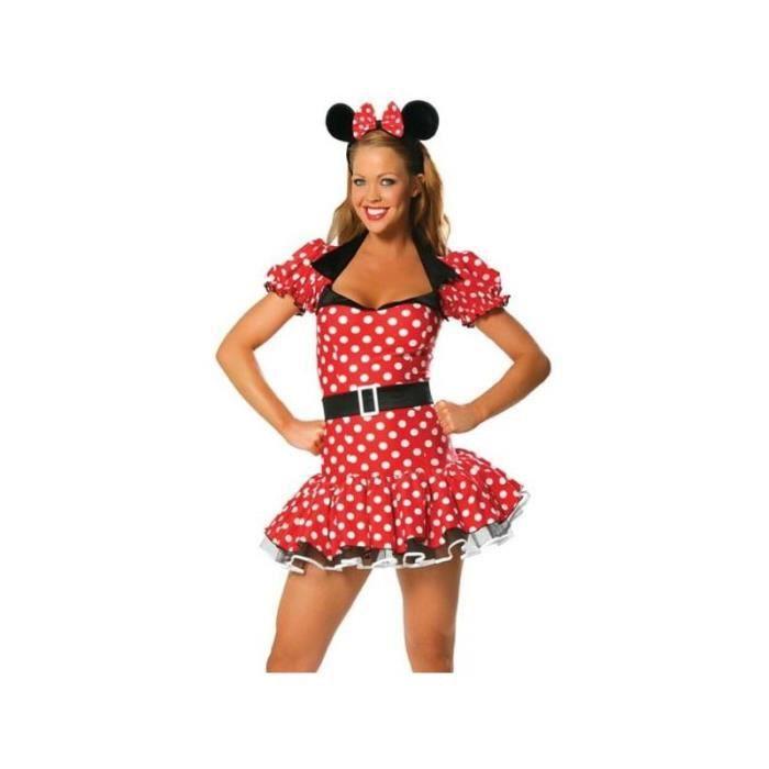 Déguisement de Minnie Mouse Tenue Sexy Pour Femme Costume Halloween  Carnaval - Rouge et Blanc c132d57499f3