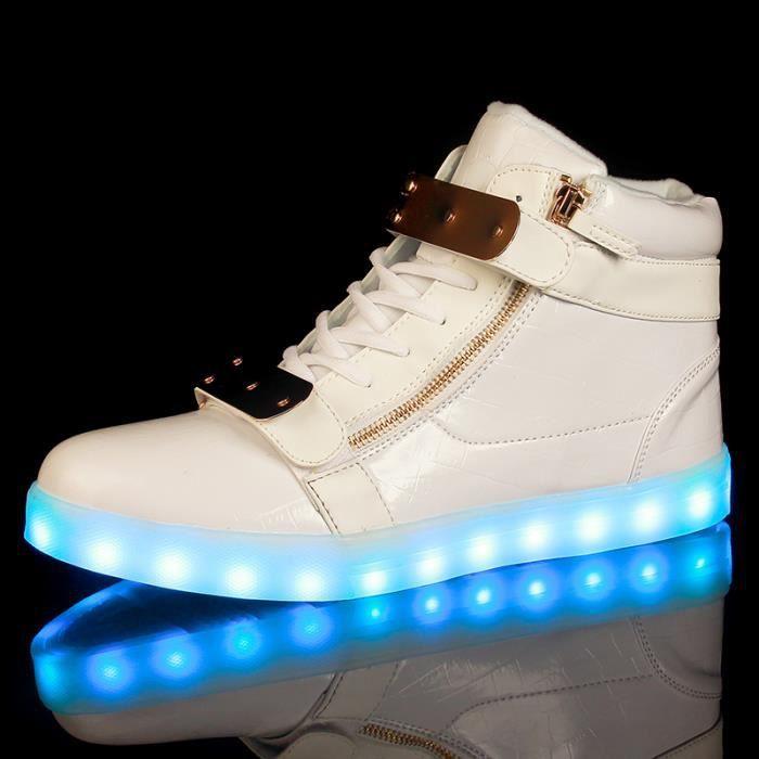 7 multicolore de recharge USB LED chaussures lé...