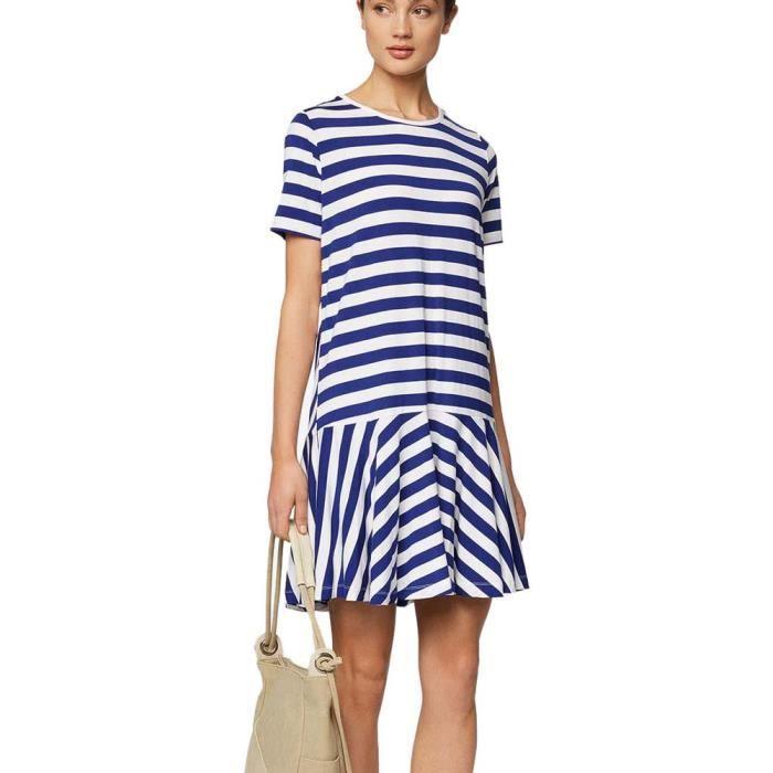 Vêtements femme Robes Bench Jersey Tee Dress Stripes