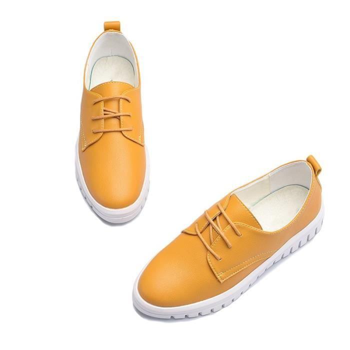 Skateshoes Femme Outdoor Sneaker Sweat de la femme Absorption dermique jaune taille37