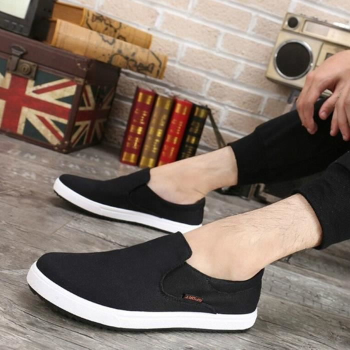 Sur Slip Chaussures Flats Respirant Mode Mocassins Casual Solide Hommes Chaussures BwqWH8FZ