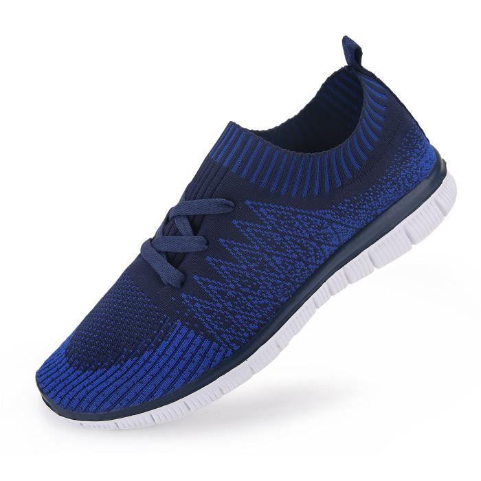 Flyknit Mesh sport Chaussures de course léger à lacets Chaussures de sport de mode sport IPS2D Taille-47