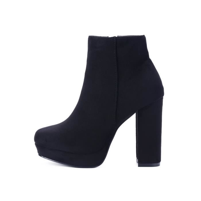 Dfrnt Women's Luna Rounded Square Toe Ankle Boot Q81L6 Taille-40 fHhqLsMS6
