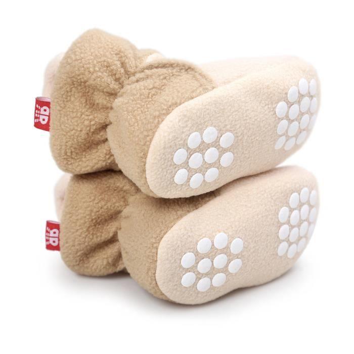 BOTTE Bottes de neige à semelles souples pour bébé Chaussures de crèche souples Bottes pour tout-petits@KhakiHM