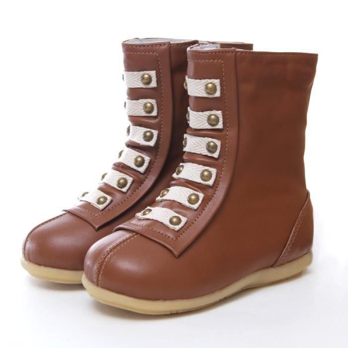 Les bottes de cuir bébé fille de bottes d'hiver pour enfants enfants neige baby boots garçon nouveau - né bottes et chaussures VctBmtw3ow