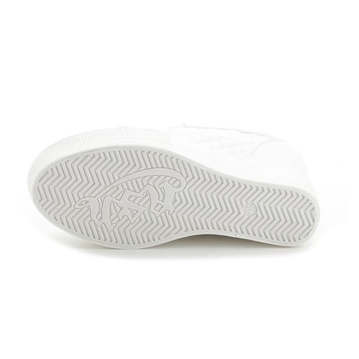 Chaussure Compensee Femme Basket Augmentation De La Hauteur Grande Taille Durable XX-XZ111Blanc40