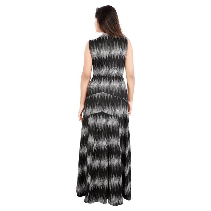 Carrel Womens Stretchable Lycra Fabric Long Dress(agspl-3596) YJUYN Taille-M