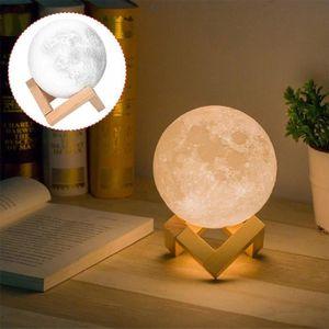 LAMPE A POSER 18CM 3D Lampe de Lune Tactile Nuit Lumière Décor à