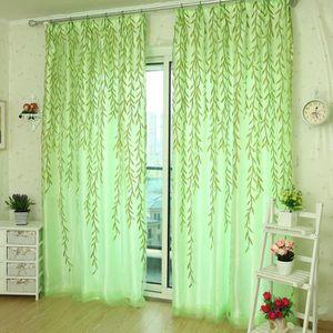 RIDEAU Willow Tulle porte fenêtre rideau Panneau Drapé Sh