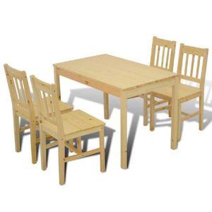 Table A Manger En Bois Avec Chaise Achat Vente Pas Cher