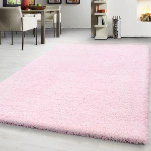 TAPIS Haute fleuri tapis Shaggy Uni un salon de couleur