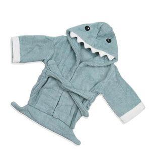 766fc1086f09f PEIGNOIR Peignoir de Bain Bébé Enfants Unisexe Requin Bleu