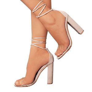 SANDALE - NU-PIEDS Minetom Femme Poissons Bouche Sandale Bloc Talons
