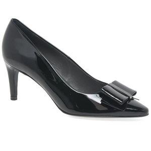 ESCARPIN rexA Womens vernie cuir Bow court Shoes