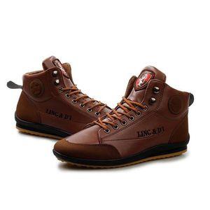 san francisco 05d0e 6de13 BASKET Baskets Montantes Chaussures Cuir Homme Mode Skate