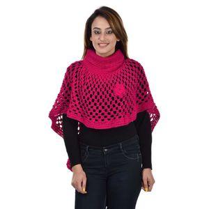 422a2a5ffc1 PONCHO poncho de laine de femmes (rose) KQZWI Taille-M