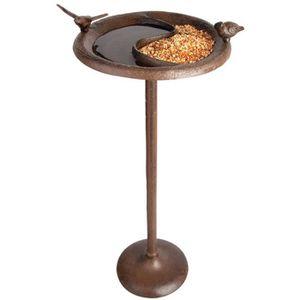 MANGEOIRE - TRÉMIE Baignoire - Mangeoire pour oiseaux 24,2 x 24,2 x 5
