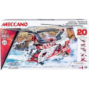 ASSEMBLAGE CONSTRUCTION MECCANO Helicoptere - 20 Modèles à construire