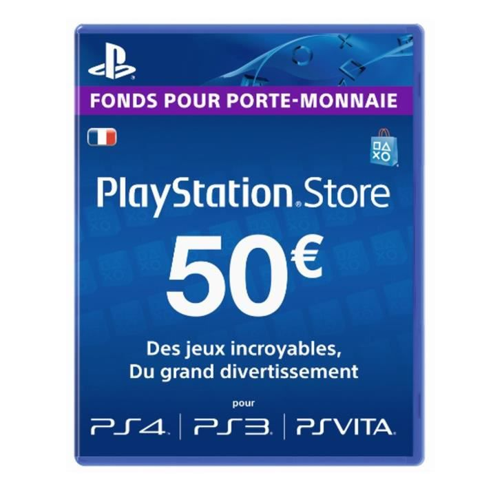 playstation network live card 50 ps4 ps vita psp ps3 achat vente carte multimedia. Black Bedroom Furniture Sets. Home Design Ideas