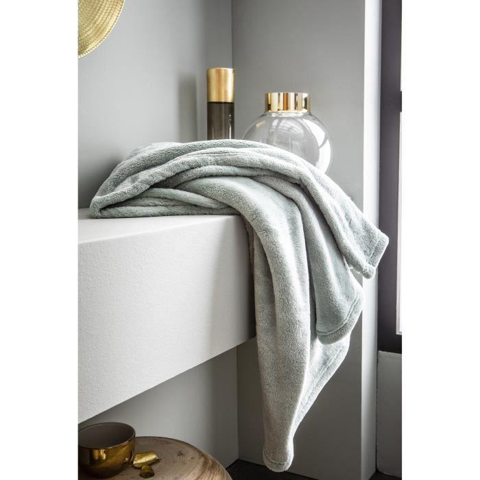 Matière : 100% polyester - Dimensions : 180x220 cm - Coloris : vert de grisCOUVERTURE - EDREDON - PLAID
