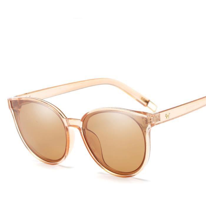 Lunettes de soleil femme polarisées Fashion Moderne Armature sunglasses marque de Luxe Taupe/Taupe