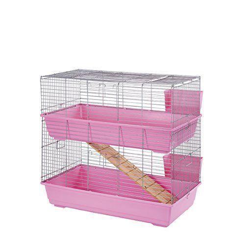 CAGE Little Friends Cage à lapin Rose 102 cm
