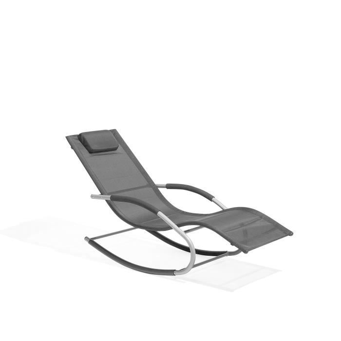 Transat de jardin à bascule noire Carano - Achat / Vente chaise ...