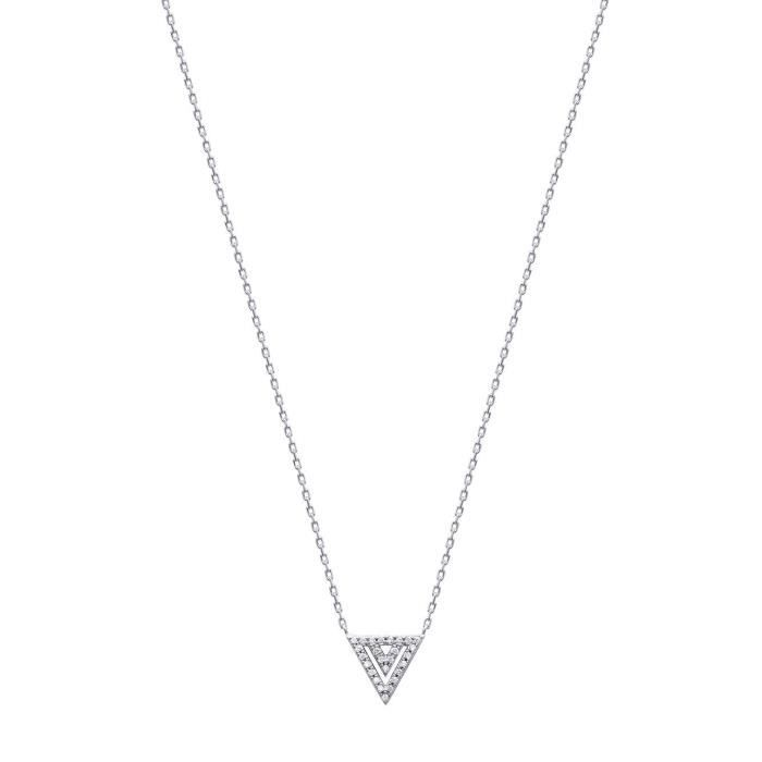 MARY JANE - Collier Argent - Long:42-45cm - Larg:10mm - Femme - Triangle