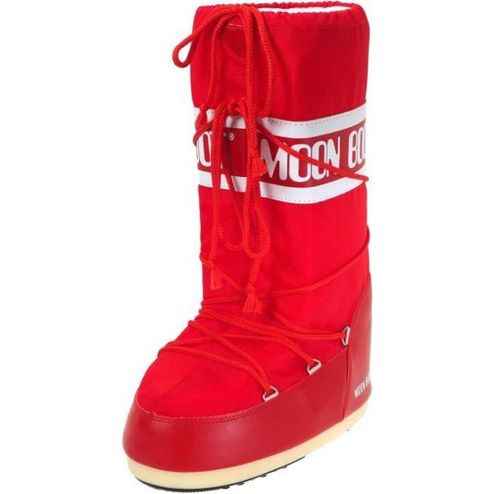 moon boot Bottes rouge neige ski après Nylon PqYX7P