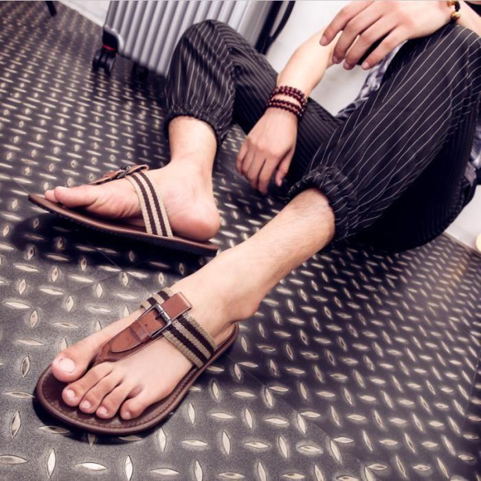 Sandales d'été et Slipper hommes sandales en cu...