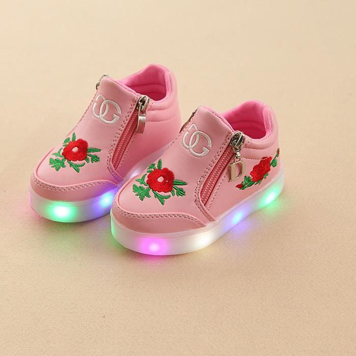 de filles Enfants Baskets LED chaussures lumières Chaussures Bébé EqPWEx0vwR