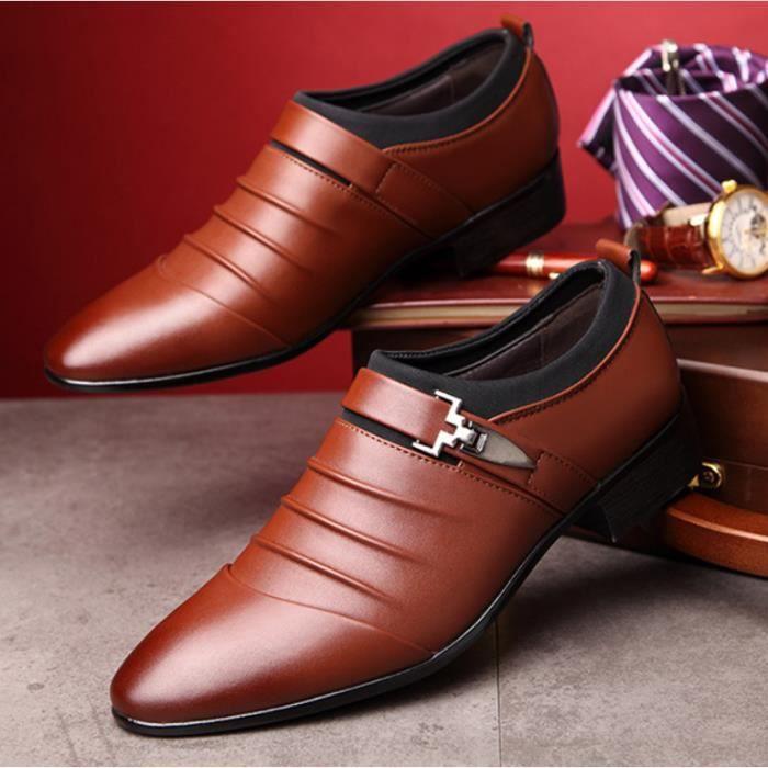 7d7608d9a11ba OLALI® Hommes PU En Cuir Top Qualité Confortable Hommes Robe  Chaussures(Taille de la Chine)