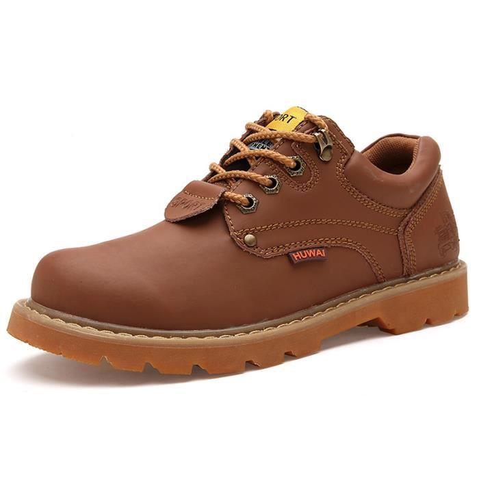 Chaussures Homme Cuir Confortable mode Homme chaussure de ville BSMG-XZ209Rouge40