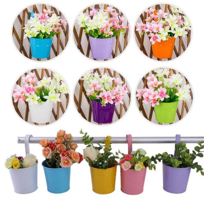 Lot De 20 Pots De Fleurs A Accrocher Exterieur Fer Jardin Maison
