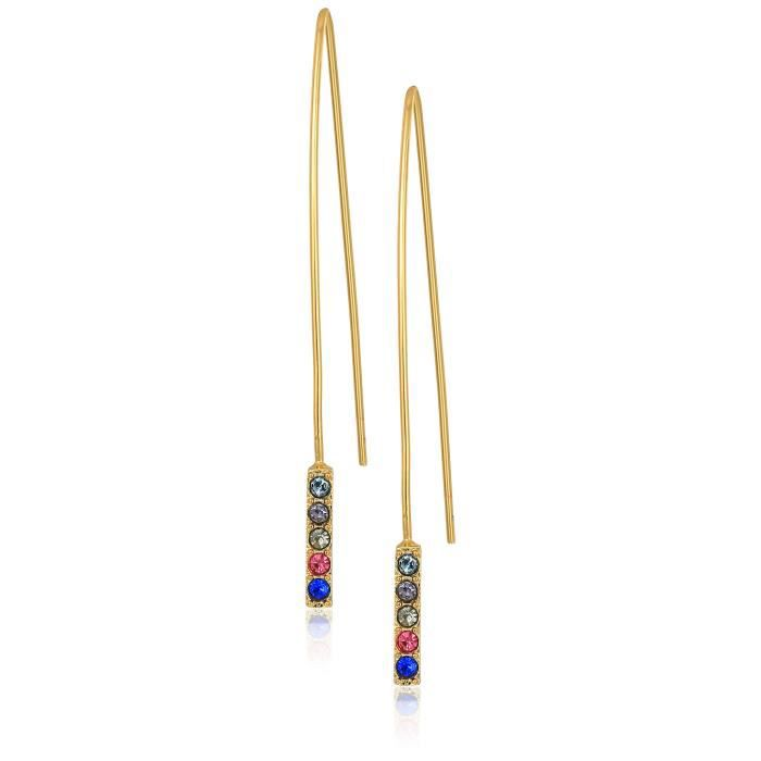Rebecca Minkoff Womens Hardwire Threader Earrings With Pave Stick HDDMA