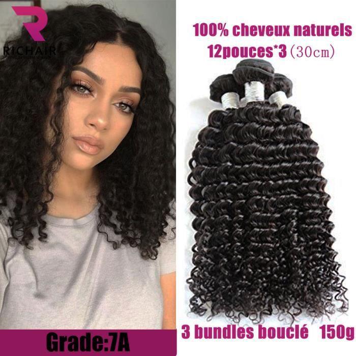3 tissage bresilien virgin hair cheveux naturels kinky curly 50g pc ... dd340275afe