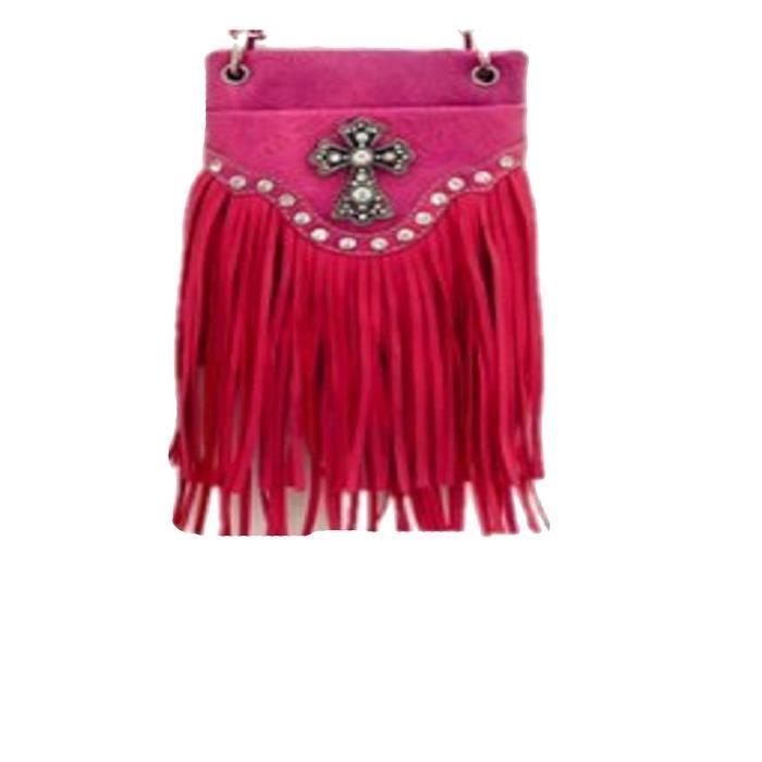 sacs à main bandoulière - imprimé et frange sac à bandoulière fashion - 6 x 8 x 1  I01KB