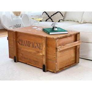 table basse caisse bois achat vente pas cher. Black Bedroom Furniture Sets. Home Design Ideas