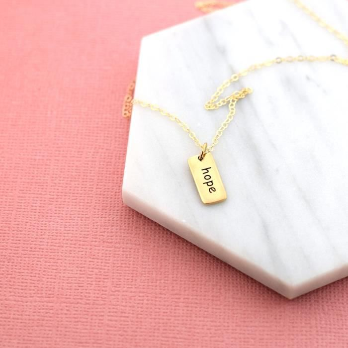 Womens Hope Necklace - 14k Gold Fill - Simple Jewelry - Gift For Her EN3NU