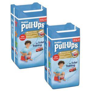 Lot de 2 HUGGIES Pull-Ups Boy Taille 6 - De 16 ? 23kg - 12 couches